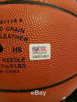 Rare Kobe Bryant 1996 Rookie Signe Basket Spalding Psa Adn Coa Vitrine