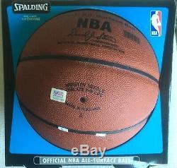 Rare Kobe Bryant Nba Basketball Signé Dans L'affaire D'affichage Avec Psa Coa