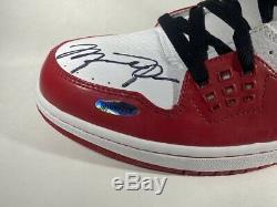 Rare Michael Jordan Auto Signé Air Jordan Shoes Ud Coa Display Case