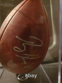 Ray Rice Batimore Ravens Signed Replica Football Coa (vitrine Acrylique)