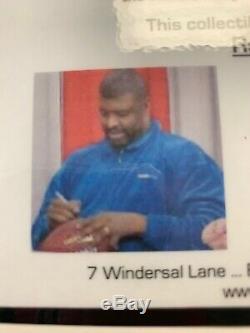 Reggie White Autographié NFL Football (comprend Coa & Case D'affichage)