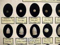 Reliques De La Guerre Civile 36 Balles Authentiques Dans Une Vitrine Contenant Du Coa