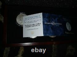Remarque Complète Morgan Dollar Mint Set Dans Le Cas De Déplacement Avec Coa