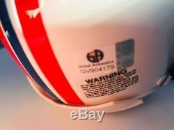 Rob Gronkowski Autographié Signé Throwback Mini Casque Ga Coa Avec Affichage De Cas