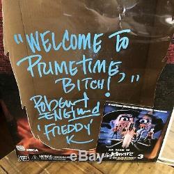Robert Englund Signé Elm Street 3 Freddy Krueger Gant W Présentoir Coa Preuve