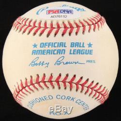 Robin Roberts Signé Oal Baseball Avec Vitrine (psa Coa)