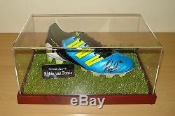 Robin Van Persie - Vitrine Signée À La Main Pour Les Chaussures De Football - Manchester United + Coa