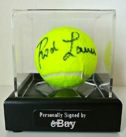 Rod Laver Signed Autograph Balle De Tennis Affichage Memorabilia Case Sport & Coa
