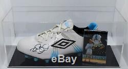 Rod Wallace Signé Autograph Football Boot Display Case Leeds Utd Aftal Coa