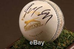 Rohit Sharma, Vitrine D'autographes Signée, Balle De Cricket, Souvenirs De L'inde, Coa