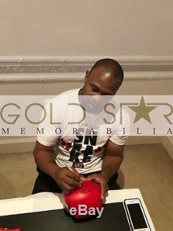 Roy Jones Jr Gant De Boxe Signé À La Main Dans Une Vitrine 9x Champion Du Monde Rare Coa