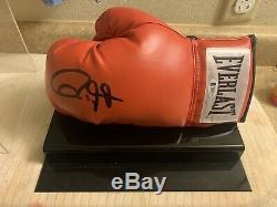 Roy Jones Jr. Signé Everlast Gant De Boxe (beckett Coa) Avec Vitrine