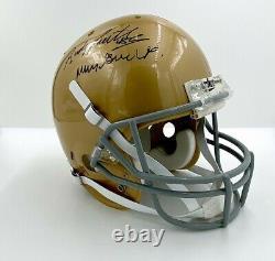 Rudy Notre Dame Autographié Fs Replica Casque De Football Avec Affichage De Cas Coa