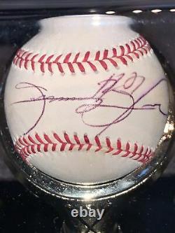 Sammy Sosa A Signé Le Baseball De L'omlb Avec Boîtier D'affichage Et Gse Coa Pepsi Promo