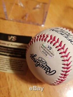 Sandy Koufax Autographed Signé Mlb Baseball Avec Coa Et Affichage De Cas