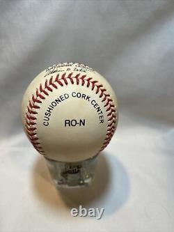 Sandy Koufax Brooklyn Dodgers Autographié Baseball Avec Coa Dans Le Cas D'affichage