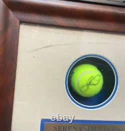 Serenavenus Williamsautograph Signé Coa Tennis Balls Shadow Display Case