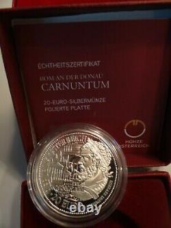 Set Complet (6) Rome Et Le Boîtier En Bois Danube Austria. 900 Argent Coa