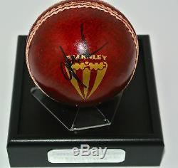 Shane Warne Signe Autographes Balle De Cricket Présentoir Proof Cadeau Australie Coa
