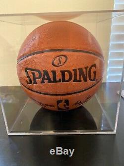 Shaquille O'neal Signé Basketball Jsa Oce Cas D'affichage