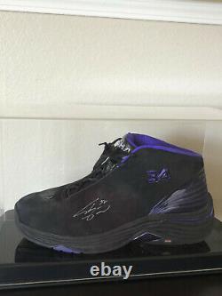 Shaquille O'neil Chaussure De Basket Autographiée Personnalisée Coa Avec Boîtier D'affichage
