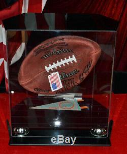 Signé Don Shula Autograph NFL Football, Flottant Vitrine, Coa, Uacc, Time