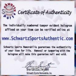 Signé Larry Bird & Bill Russell Nba Basketball Avec Le Cas D'affichage (coa Schwartz)