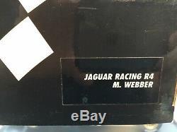 Signé Mark Webber Formule 1 Jaguar Racing R4 118 Boxed & Display Case & Coa