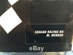 Signé Mark Webber Jaguar Racing R4 F1 Minichamps 118 Boxed / Afficher Cas / Coa