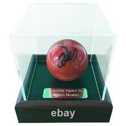 Signé Stephen Hendry Snooker Ball World Champion Display Case +coa