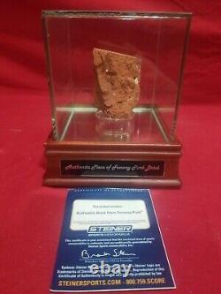 Sox De Boston Red Brick Authentique Fenway Park Avec Vitrine (steiner Coa)