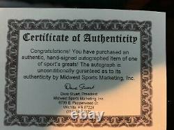 Stan Musial Autographié Baseball Signé Avec Coa Et Boîtier D'affichage