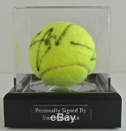 Stan Wawrinka Signé Autograph Balle De Tennis Vitrine Sport Aftal & Coa
