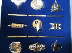 Star Trek Insignia Collection (12 Pièces) Avec Affichage De Cas Coas