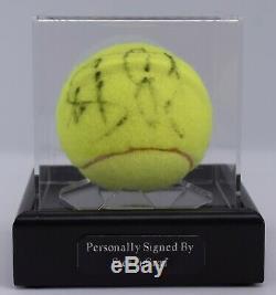 Steffi Graf Signé Autograph Tennis Ballon Vitrine Wimbledon Aftal Coa