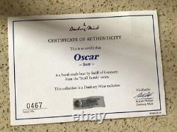 Steiff Danbury Mint Boar Fils Oscar Avec Coa Et Display Cas