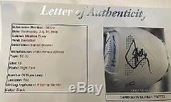 Stephen Curry Sc30 Autographié Sneaker Coa 6/6/16 Certification De Vitrine