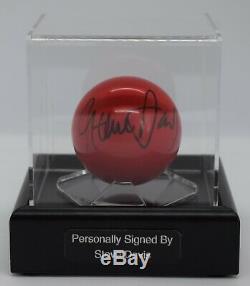 Steve Davis Snooker Autograph Signé Boule Présentoir Sport Aftal Coa