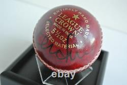 Steve Finn Signed Autograph Cricket Ball Display Case Sport England Aftal & Coa