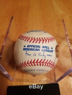 Ted Williams Signe Autographed Mlb Baseball Avec Coa Et Vitrine