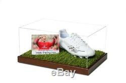 Teddy Sheringham Signé Football Boot Display Case Man Utd Autograph Football Coa