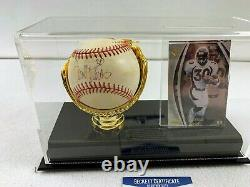 Terrell Davis Autographed Baseball And Player Card With Display Case Beckett Coa