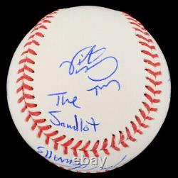 The Sandlot Film Cast Signé Baseball Autographié + Boîtier D'affichage Personnalisé + Coa