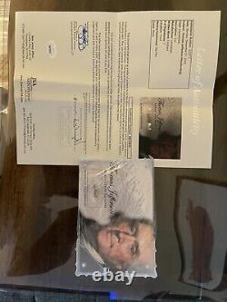 Thomas Jefferson Authentic Hand-written Word Acrylic Display Case Jsa Loa Coa