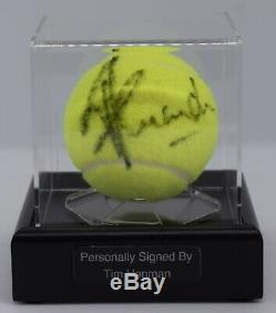 Tim Henman Signé Autograph Balle De Tennis Vitrine Wimbledon Sport Aftal Coa