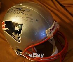 Tom Brady Rare Autographed NFL Helmet W Vitrine & Coa