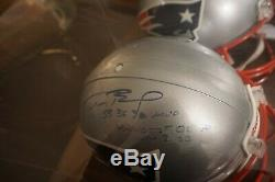 Tom Brady Signe Pleine Grandeur NFL En Cas Casque D'affichage W Coa