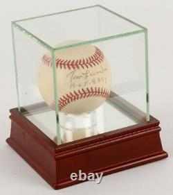 Tommy Lasorda A Signé Autographié Mlb Baseball Dodgers Withdisplay Case (jsa Coa)