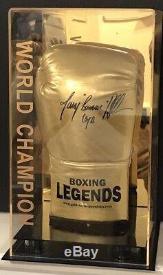Tony Bellew Signé Gant De Boxe Dans Un Affichage De Cas Champion Du Monde Coa Rare