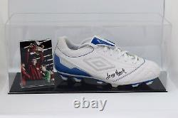 Tony Book Signé Autograph Football Boot Display Case Manchester City Coa
